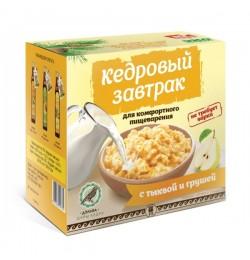Завтрак кедровый для комфортного пищеварения с тыквой и грушей